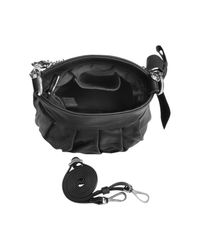 FORZIERI   Black Leather Bow Shoulder Bag   Lyst