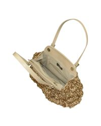 FORZIERI - Metallic Capaf Line Woven Straw & Leather Satchel Bag - Lyst