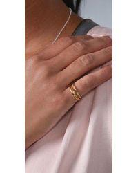 Gorjana Metallic Key & Fleur De Lis Stacking Rings