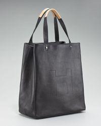 HUNTER Ashleigh Leather Shopper, Black