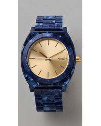 Nixon - Blue Time Teller Acetate Watch - Lyst