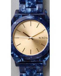 Nixon Blue Time Teller Acetate Watch