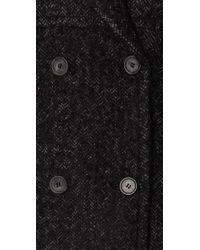 Smythe Gray Herringbone Midi Coat