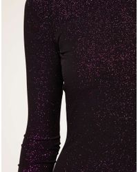 ASOS Collection - Purple Asos Petite Exclusive Bodycon Dress in Glitter - Lyst