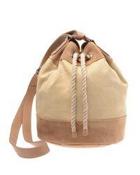 Club Monaco Natural Caroline Drawstring Bag