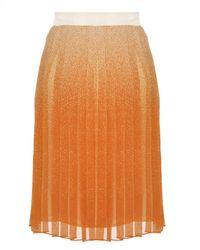Club Monaco Brown Krista Pleated Skirt