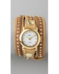 La Mer Collections - Natural Bali Stud Wrap Watch - Lyst