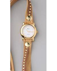 La Mer Collections Natural Bali Stud Wrap Watch