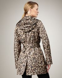 Neiman Marcus - Multicolor Leopard-print Trenchcoat - Lyst