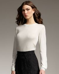 Theyskens' Theory | White Cashmere-silk Long-sleeve Top | Lyst
