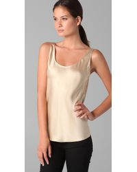 VINCE | Natural Satin Tank | Lyst