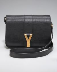 Saint Laurent Black Chyc Flap Shoulder Bag, Medium