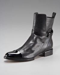 Alexander Wang Black Kat Cap-toe Ankle Boot