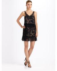 BCBGMAXAZRIA | Black Gilly Two-tiered Dress | Lyst
