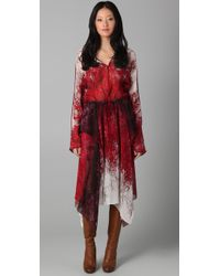 BCBGMAXAZRIA - Red Gabriella Abstract Forest Print Dress - Lyst