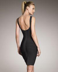 Hervé Léger   Basic Bandage Dress Black   Lyst