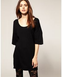 American Apparel | Black Big T Shirt | Lyst
