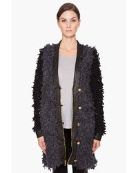 Rag & Bone   Gray Brent Coat in Charcoal/black   Lyst
