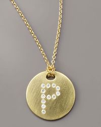 Roberto Coin - Metallic Letter Medallion Necklace, P - Lyst