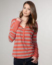 Splendid | Red Mixed-stripe Tee | Lyst