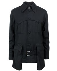 A Child Of The Jago | Foxglove Black Fine Stripe Jacket for Men | Lyst
