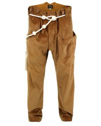 A Child Of The Jago - Napper Brown Corduroy Trousers for Men - Lyst