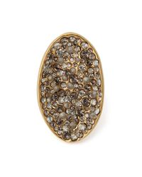 Alexis Bittar - Metallic Crystal Encrusted Pool Ring: Gold - Lyst