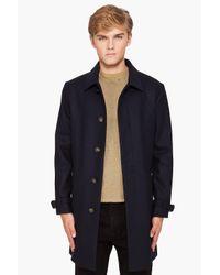 A.P.C. - Blue Mac Coat for Men - Lyst