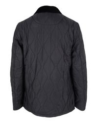 Barbour | Gray Liddesdale Track Quilted Charcoal Jacket for Men | Lyst