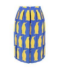 Charlotte Taylor | Blue Sk-01 Penguin Print Skirt | Lyst