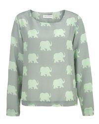 Charlotte Taylor | Green Bl-01 Elephant Print Blouse | Lyst