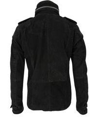 DIESEL | Leold Black Leather Jacket for Men | Lyst