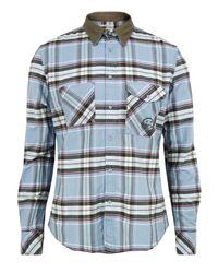 DIESEL | Stritto Light Blue Shirt for Men | Lyst