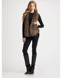 Ella Moss | Brown Arabella Faux Fur Vest | Lyst