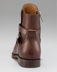 Ferragamo Brown Chester Strap Boot for men