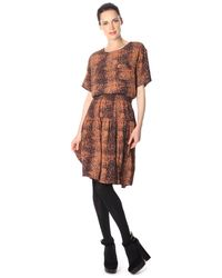 French Connection - Brown Sissy Snake Dress - Lyst