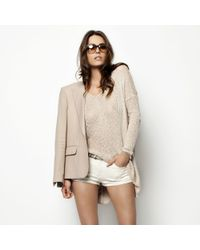 Helmut Lang - Pink Looped Silk Asymmetric Sweater - Lyst