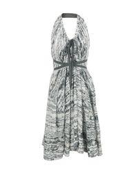 L.A.M.B. | Gray Grey Dress | Lyst