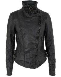Muubaa | Flax Black Leather Biker Jacket for Men | Lyst