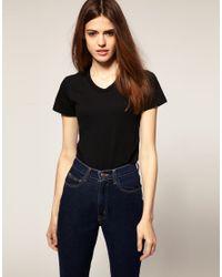 American Apparel | Black T Shirt | Lyst