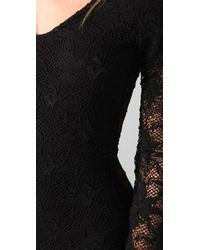 Nightcap - Black Iris Lace Bodysuit - Lyst