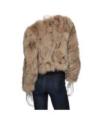 See By Chloé - Brown Fox Fur Jacket - Lyst