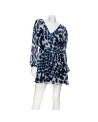 Twelfth Street Cynthia Vincent | Blue Chiffon Cross Front Dress | Lyst
