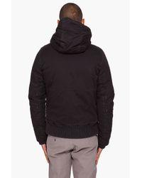 G-Star RAW - Black Hooded Field Bomber Jacket for Men - Lyst