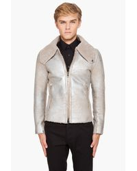 Paul Smith | Natural Metallic Shearling Jacket for Men | Lyst