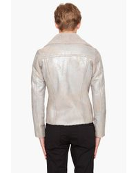 Paul Smith - Natural Metallic Shearling Jacket for Men - Lyst