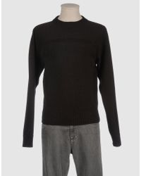 Saint Laurent | Black Crewneck Sweater for Men | Lyst