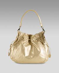 Cole Haan Black Denney Drawstring Shoulder Bag