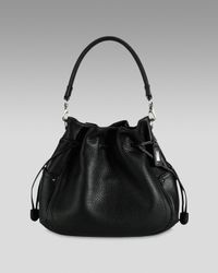 Cole Haan | Black Denney Drawstring Shoulder Bag | Lyst
