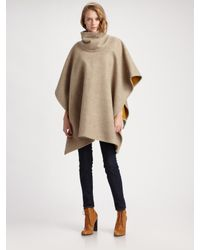 Pendleton | Brown Reversible Wool and Cotton Cape | Lyst